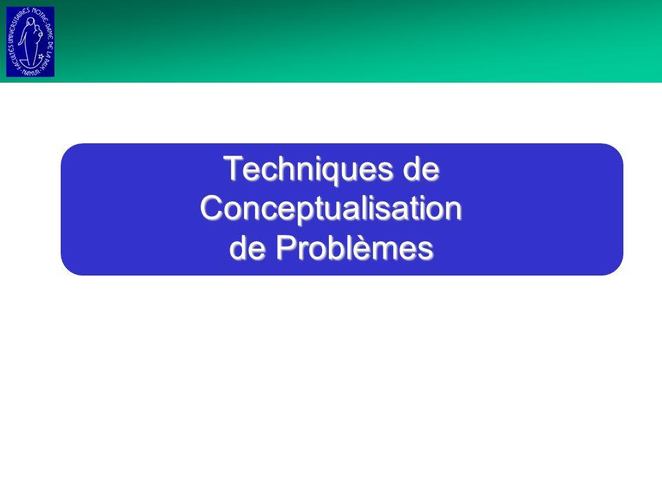 Techniques de Conceptualisation de Problèmes