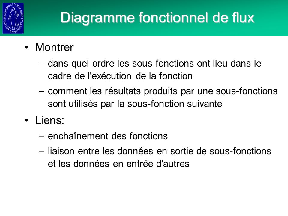 Diagramme fonctionnel de flux