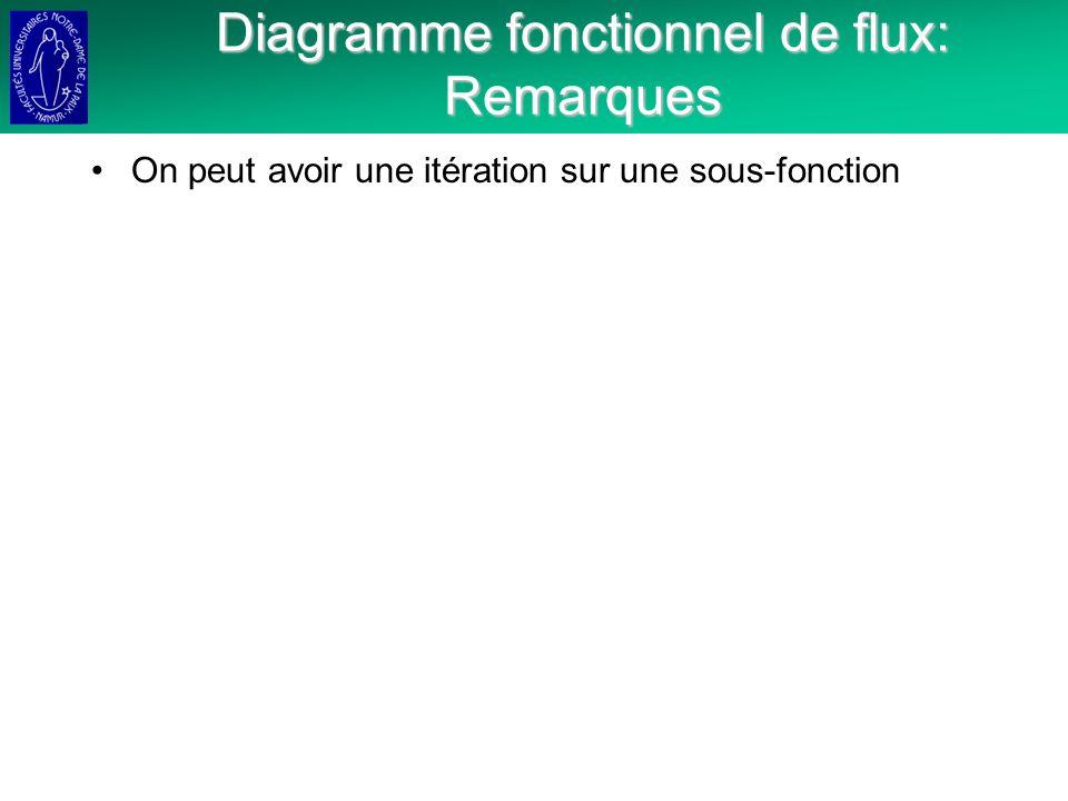 Diagramme fonctionnel de flux: Remarques