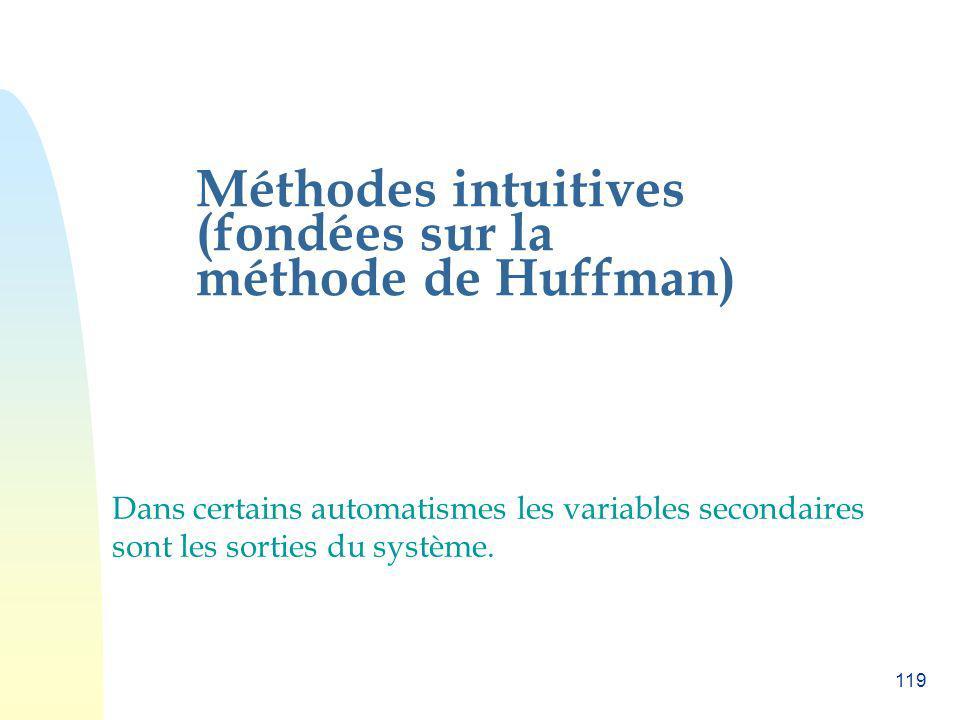 Méthodes intuitives (fondées sur la méthode de Huffman)