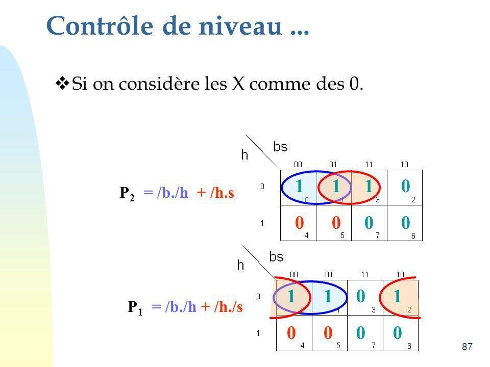 Contrôle de niveau ... Si on considère les X comme des 0. 1 1 1 1 1 1
