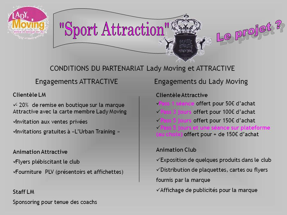 Le projet Sport Attraction