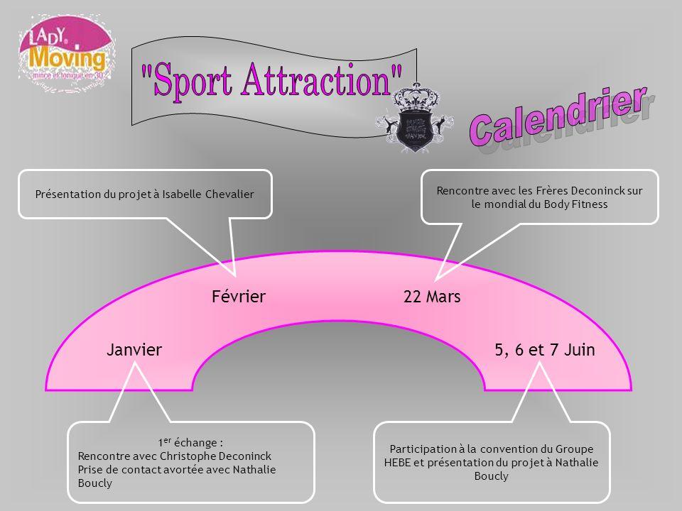 Sport Attraction Calendrier Février 22 Mars Janvier 5, 6 et 7 Juin