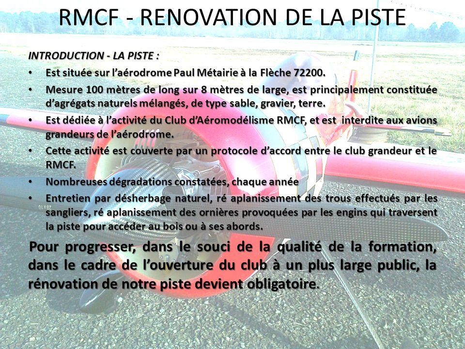 RMCF - RENOVATION DE LA PISTE