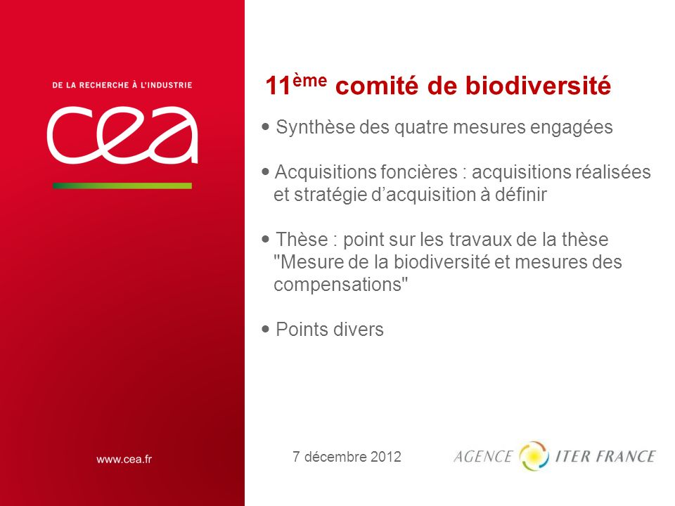 11ème comité de biodiversité