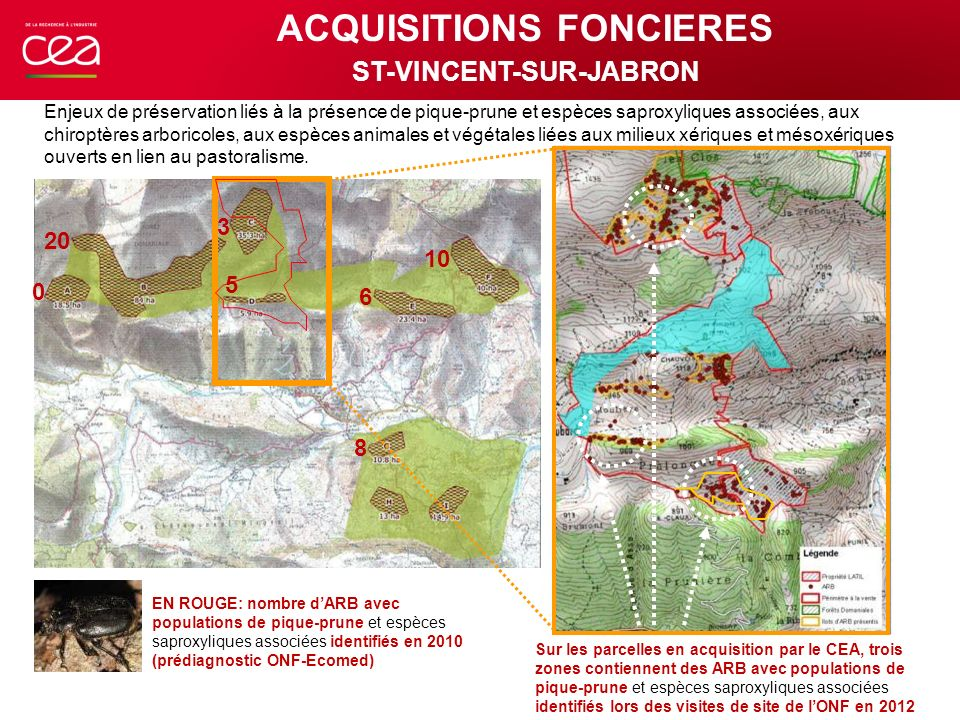 ACQUISITIONS FONCIERES ST-VINCENT-SUR-JABRON