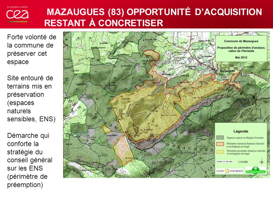 MAZAUGUES (83) OPPORTUNITÉ D'ACQUISITION RESTANT À CONCRETISER