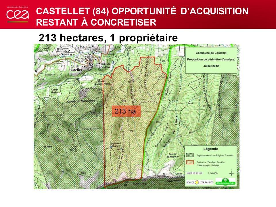 213 hectares, 1 propriétaire