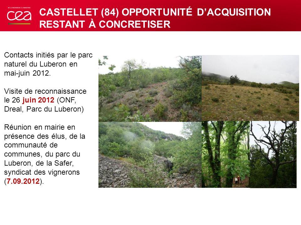 CASTELLET (84) OPPORTUNITÉ D'ACQUISITION RESTANT À CONCRETISER