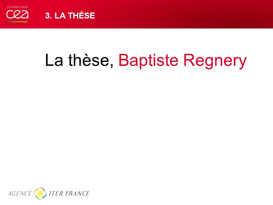 La thèse, Baptiste Regnery