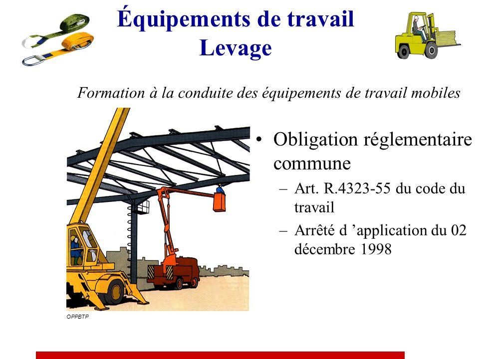 Formation à la conduite des équipements de travail mobiles