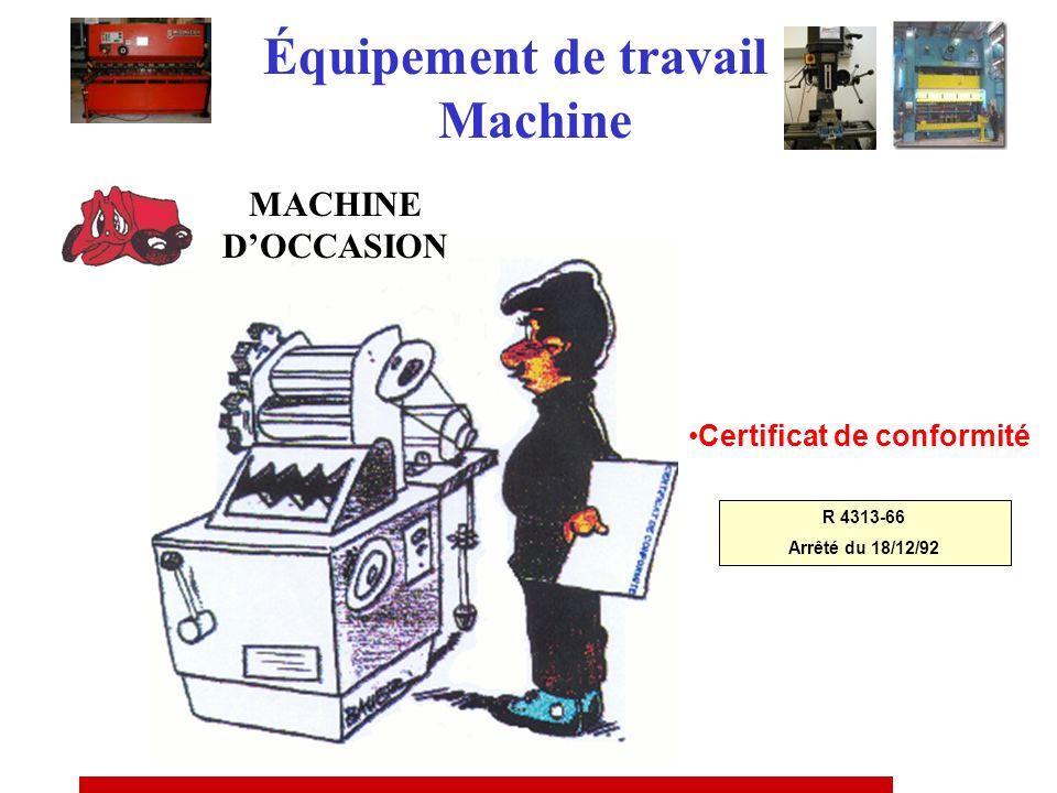 Équipement de travail Machine