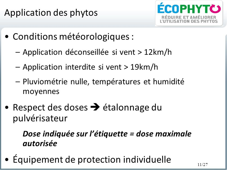 Application des phytos