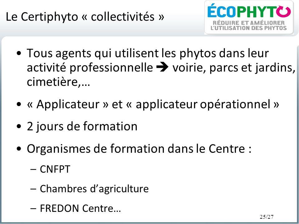 Le Certiphyto « collectivités »