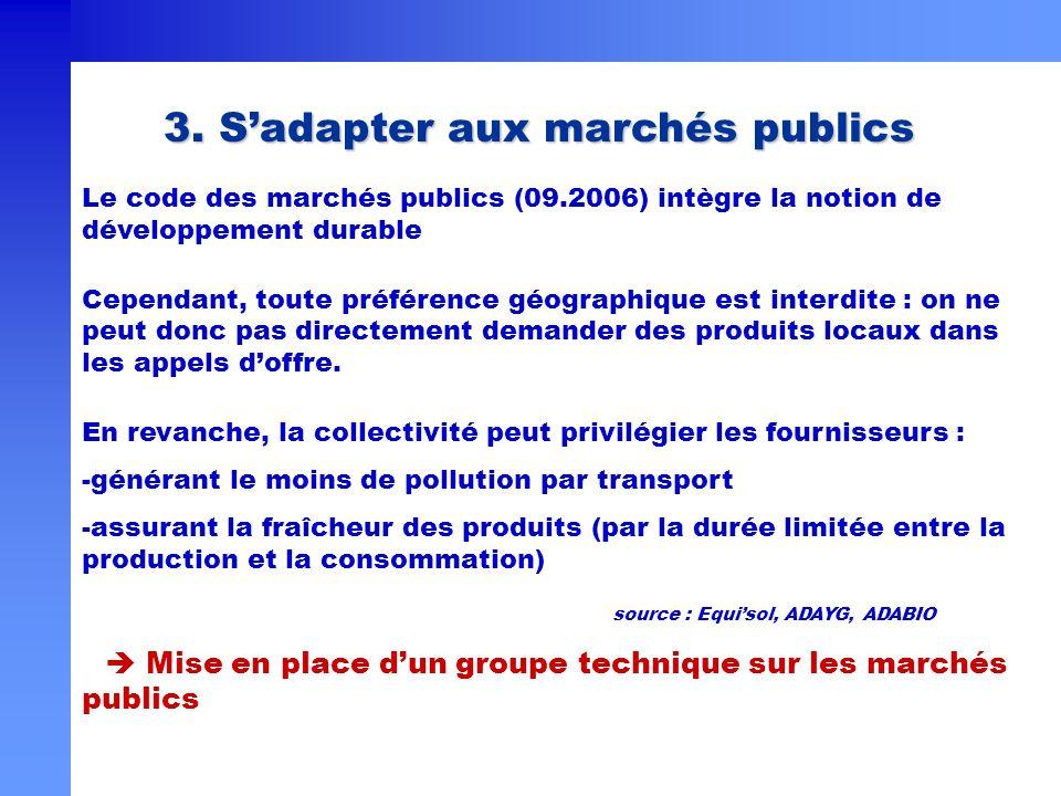 3. S'adapter aux marchés publics