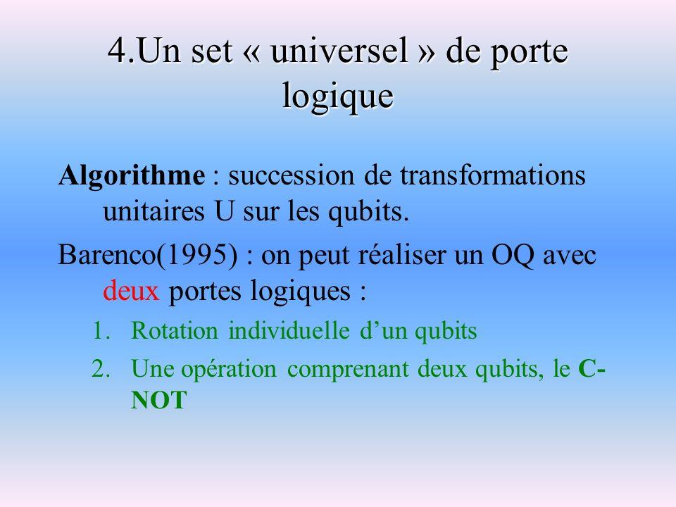 4.Un set « universel » de porte logique