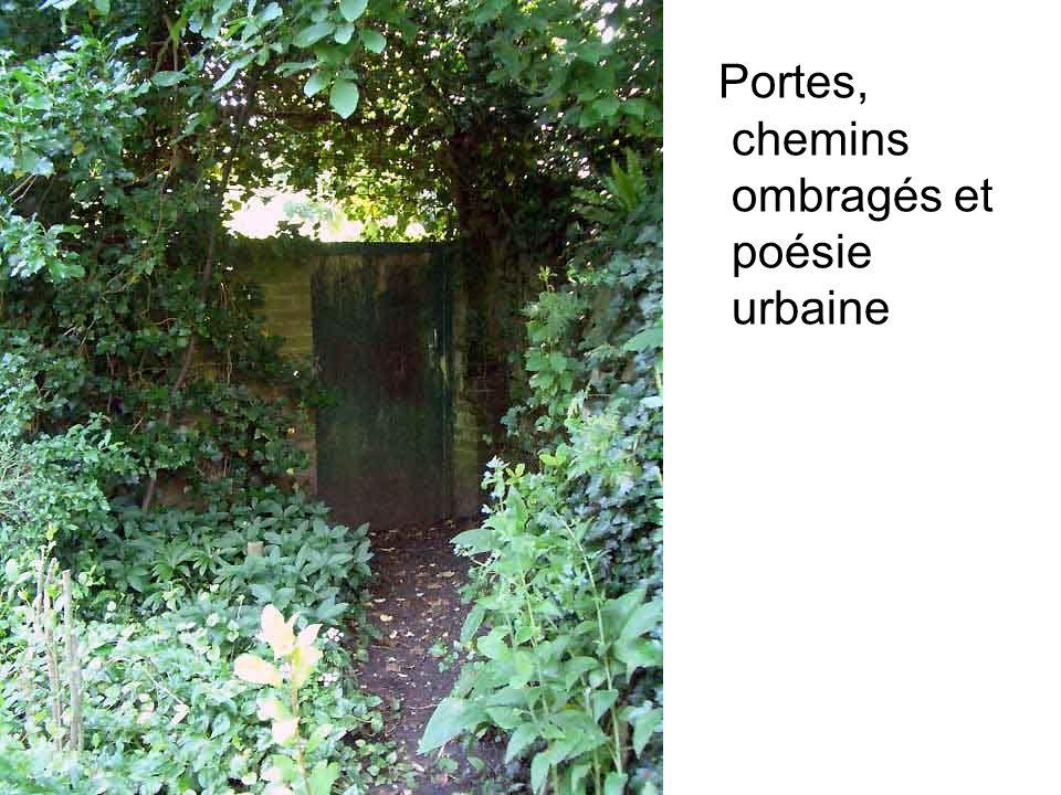 Portes, chemins ombragés et poésie urbaine