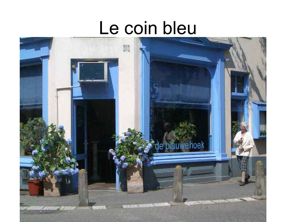 Le coin bleu