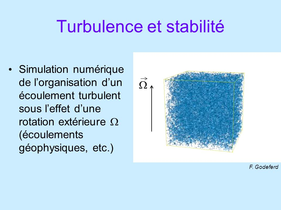 Turbulence et stabilité