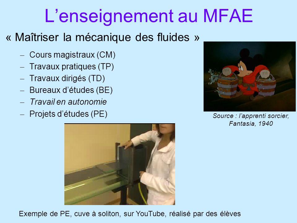 L'enseignement au MFAE