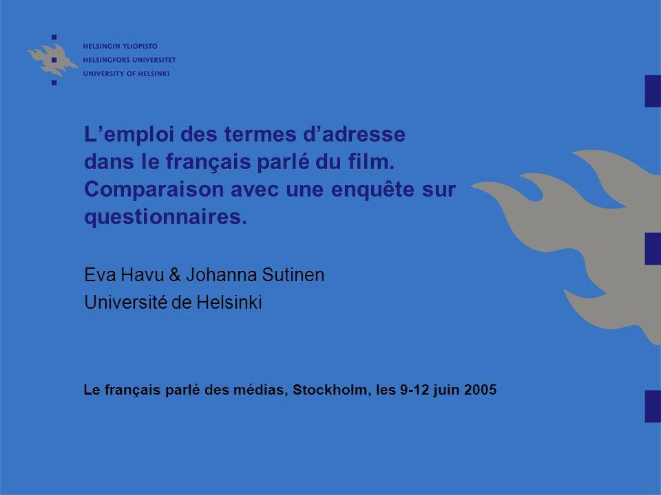 Eva Havu & Johanna Sutinen Université de Helsinki
