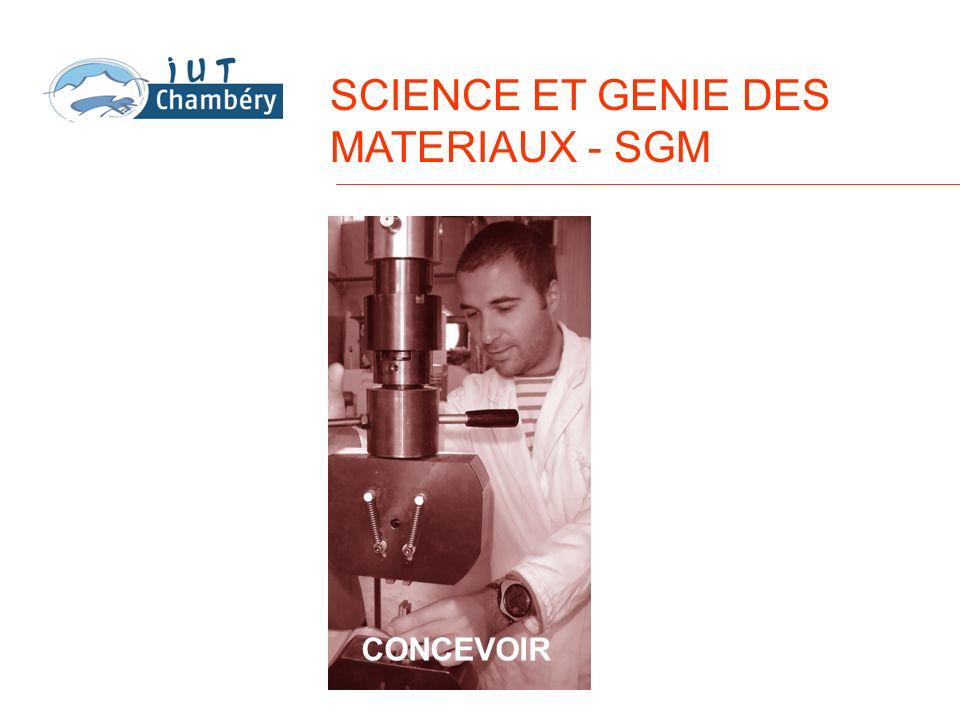 SCIENCE ET GENIE DES MATERIAUX - SGM