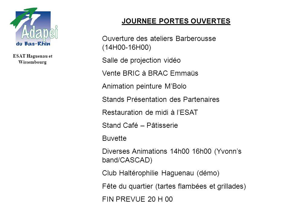 JOURNEE PORTES OUVERTES ESAT Haguenau et Wissembourg