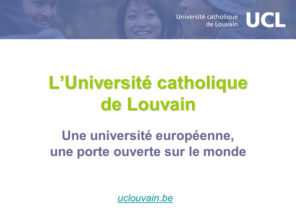 L'Université catholique de Louvain