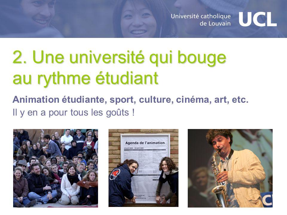 2. Une université qui bouge au rythme étudiant