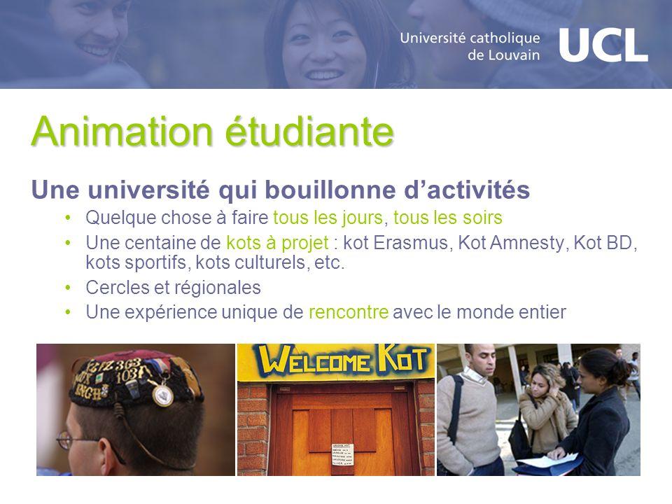 Animation étudiante Une université qui bouillonne d'activités