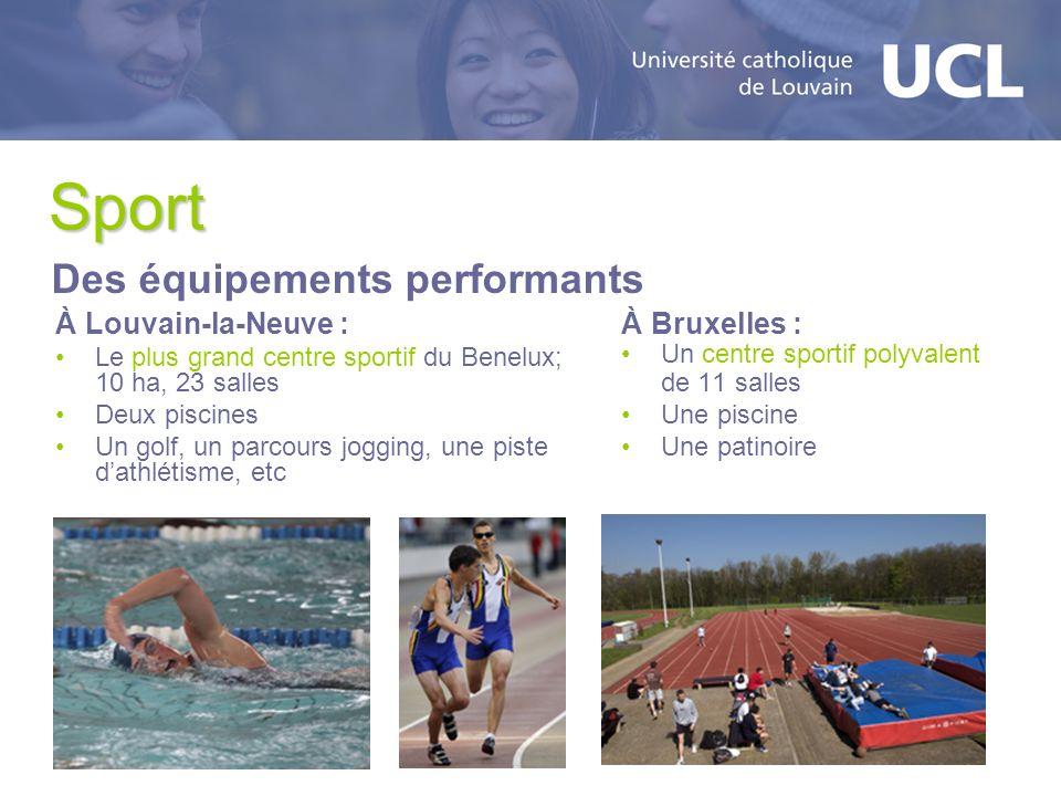 Sport Des équipements performants À Louvain-la-Neuve : À Bruxelles :