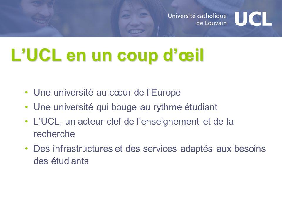 L'UCL en un coup d'œil Une université au cœur de l'Europe