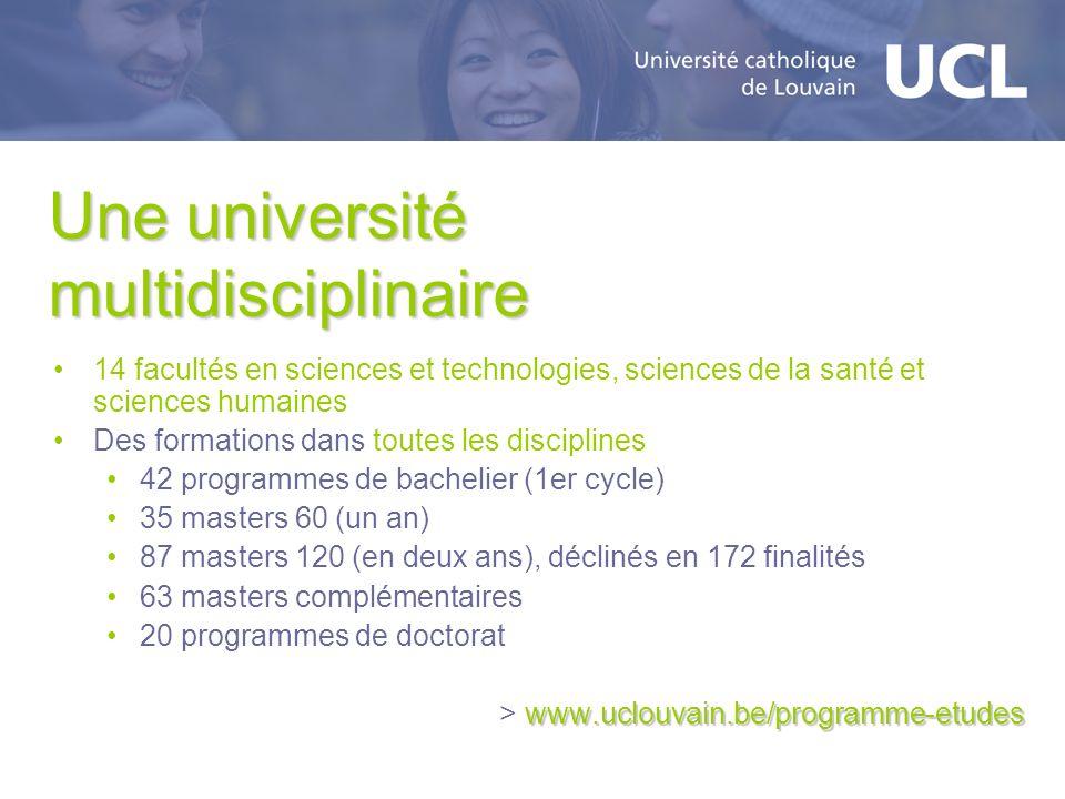 Une université multidisciplinaire