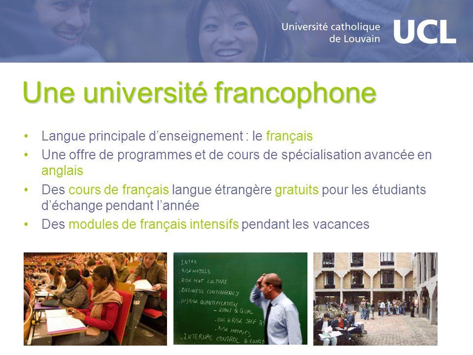 Une université francophone