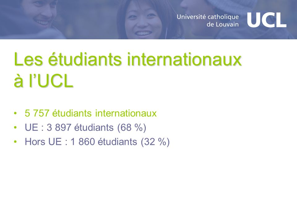 Les étudiants internationaux à l'UCL