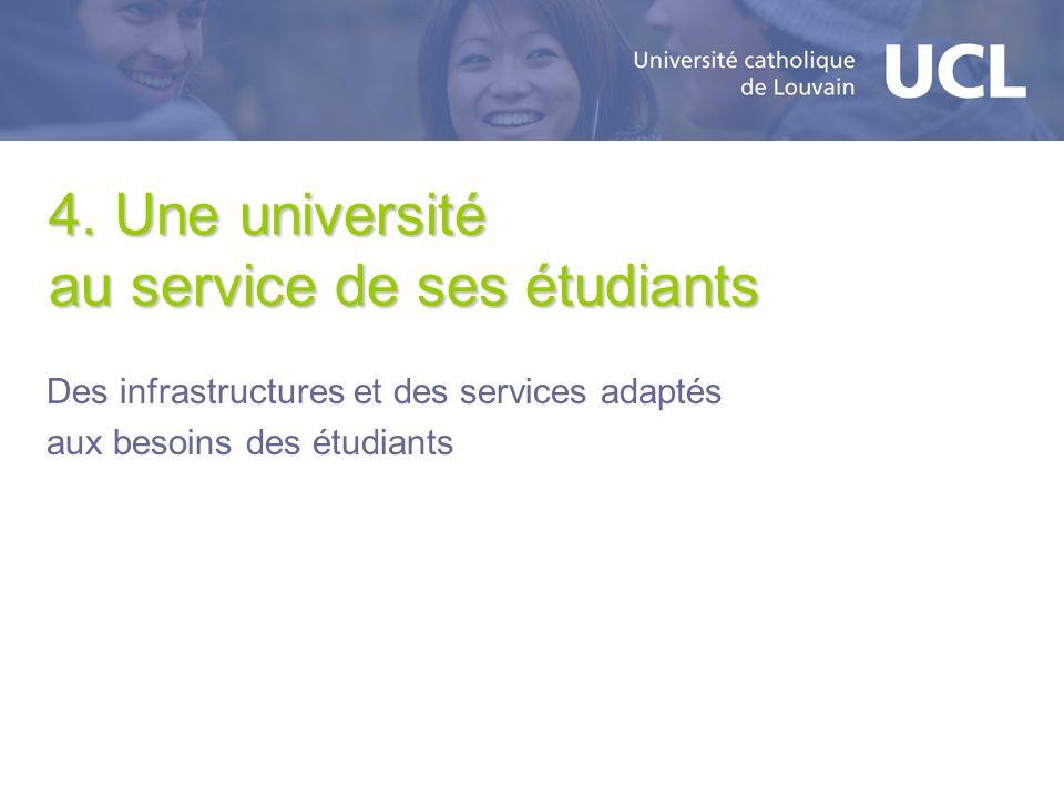 4. Une université au service de ses étudiants
