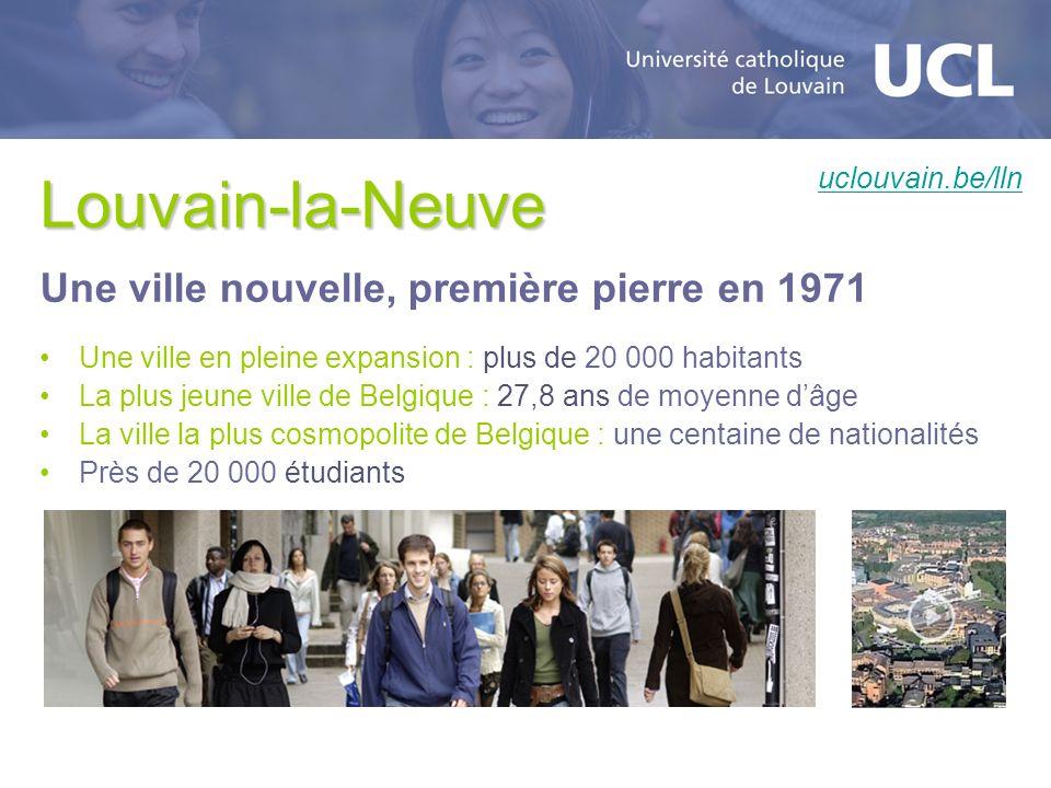 Louvain-la-Neuve Une ville nouvelle, première pierre en 1971
