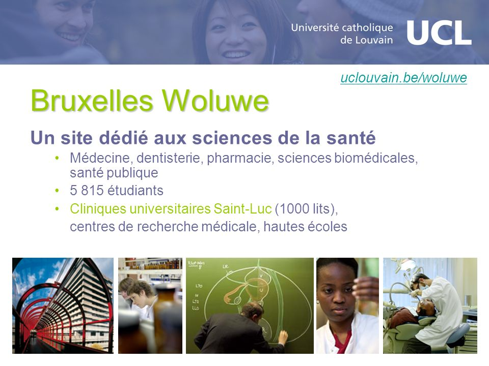Bruxelles Woluwe Un site dédié aux sciences de la santé