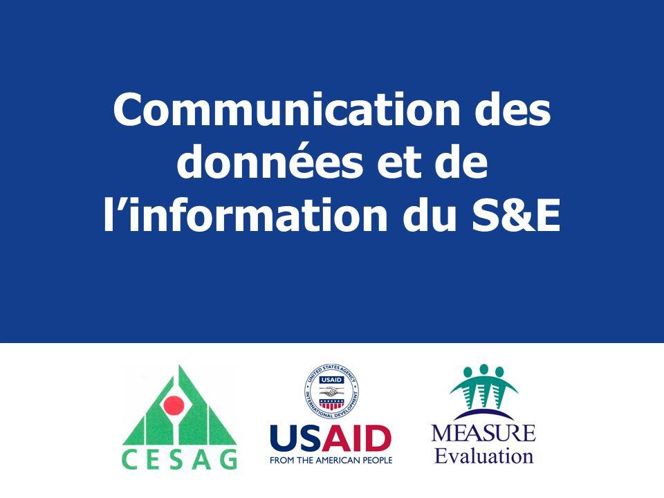 Communication des données et de l'information du S&E