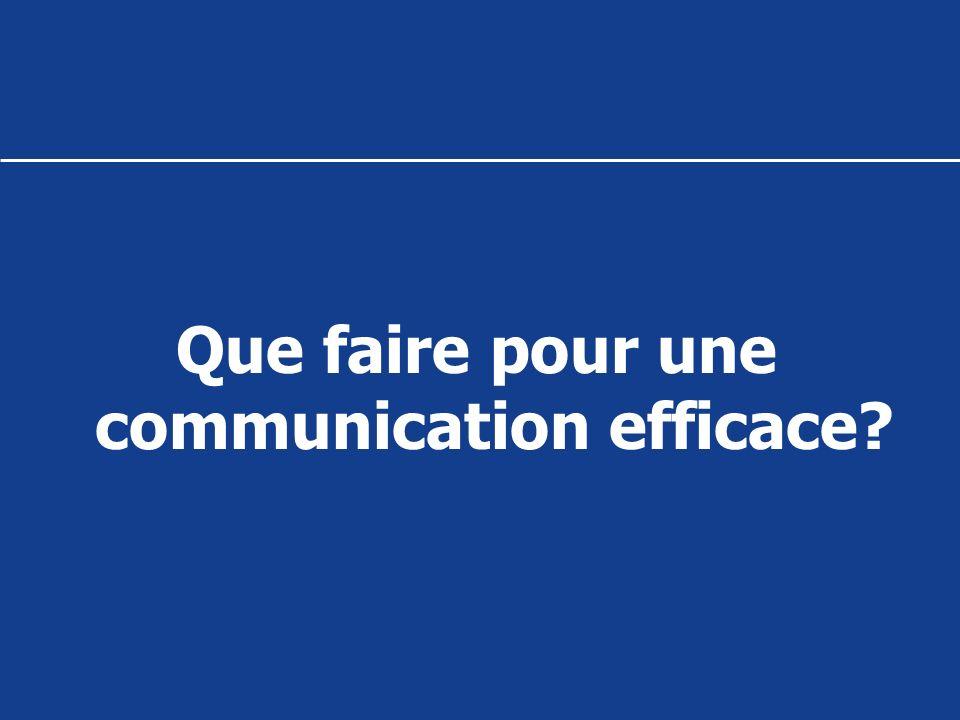 Que faire pour une communication efficace