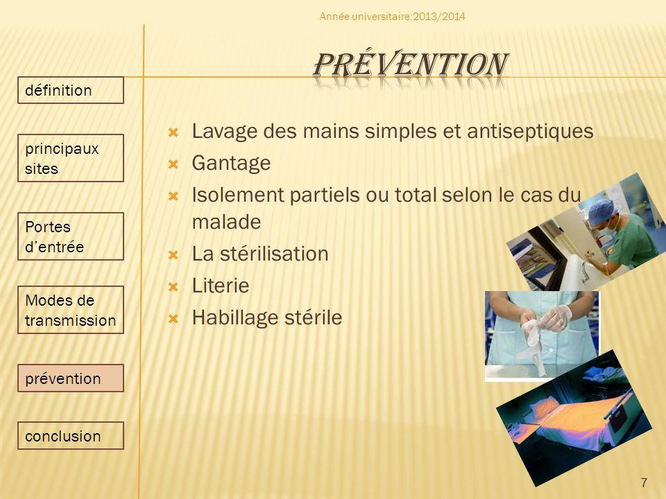 prévention Lavage des mains simples et antiseptiques Gantage