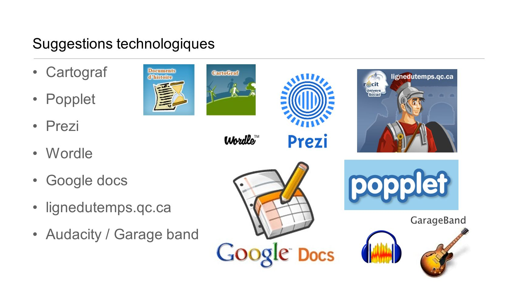 Suggestions technologiques