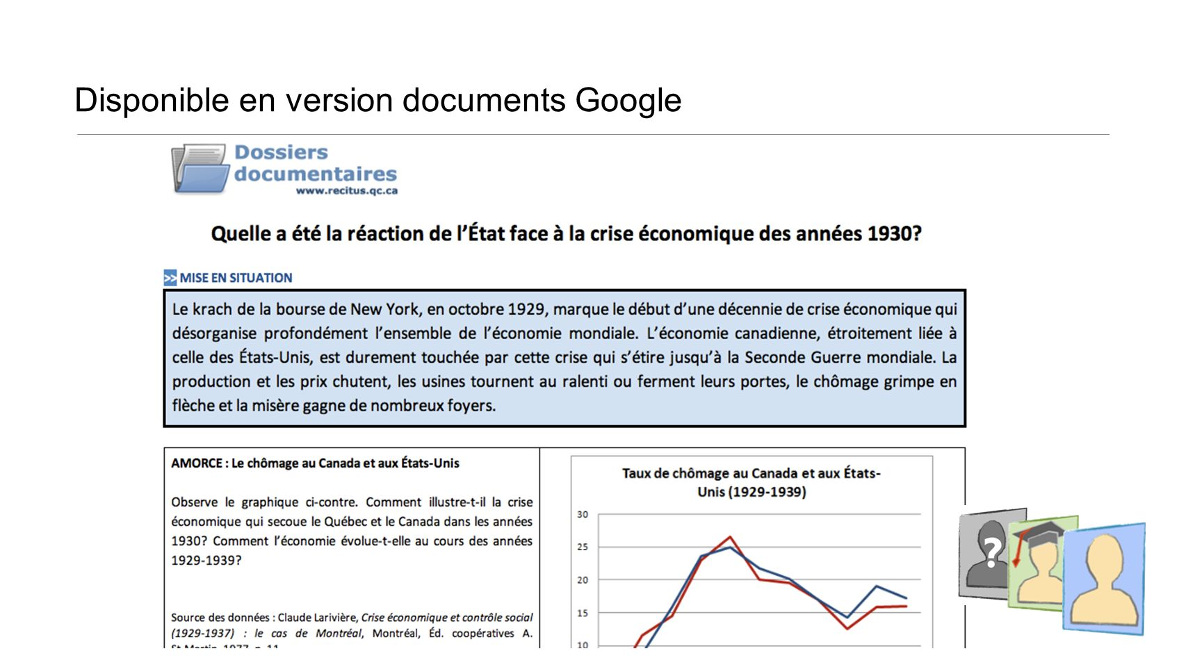 Disponible en version documents Google