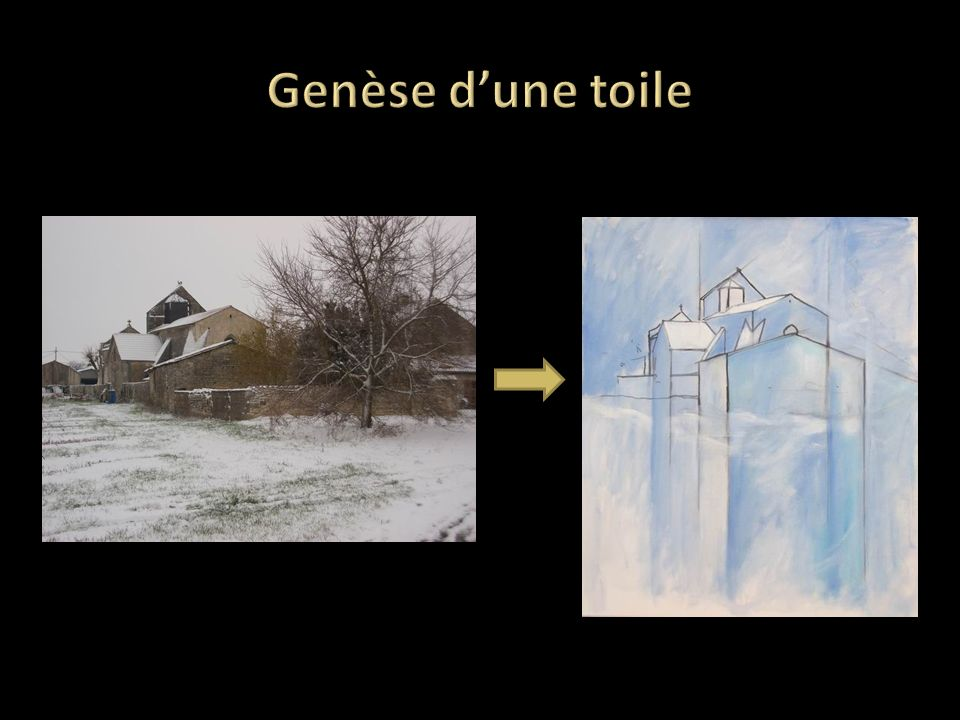 Genèse d'une toile