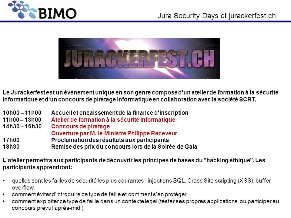 Le Jurackerfest est un événement unique en son genre composé d un atelier de formation à la sécurité informatique et d un concours de piratage informatique en collaboration avec la société SCRT.