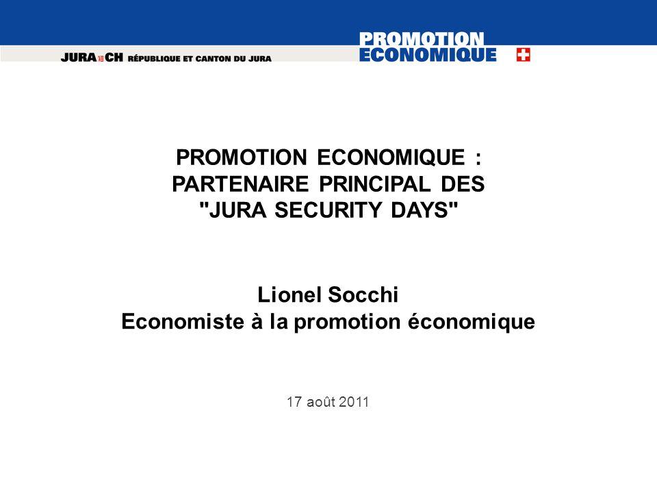 PROMOTION ECONOMIQUE : PARTENAIRE PRINCIPAL DES JURA SECURITY DAYS
