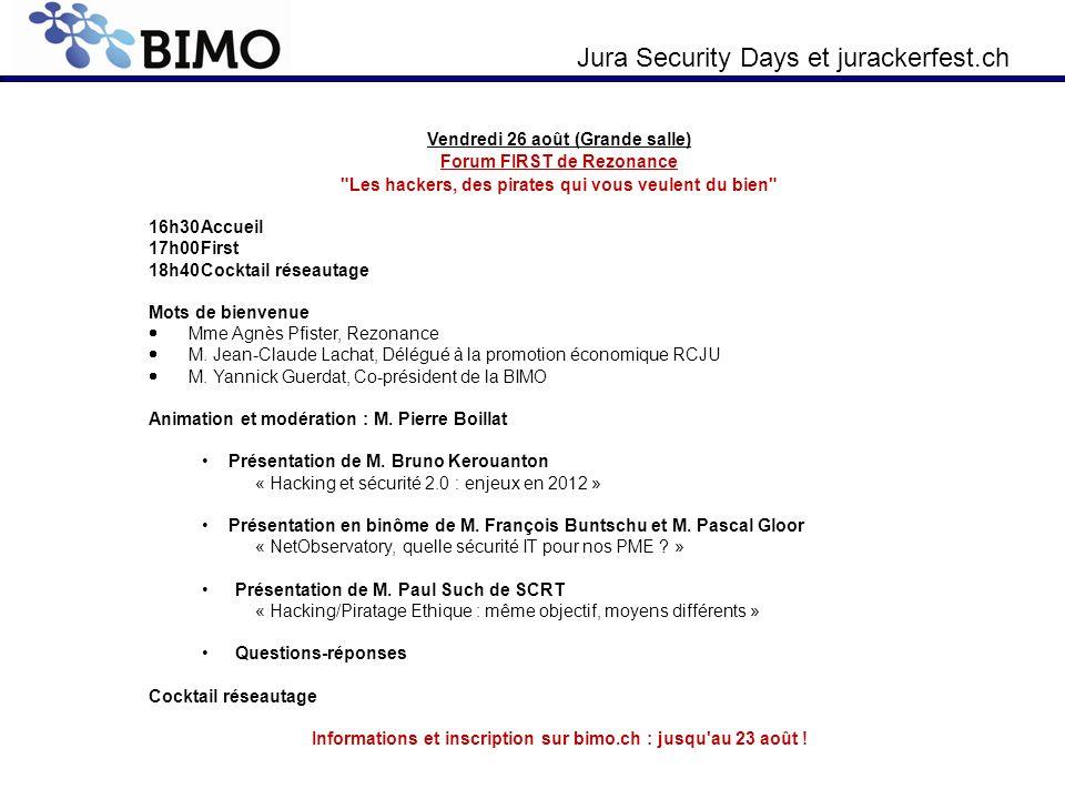Informations et inscription sur bimo.ch : jusqu au 23 août !