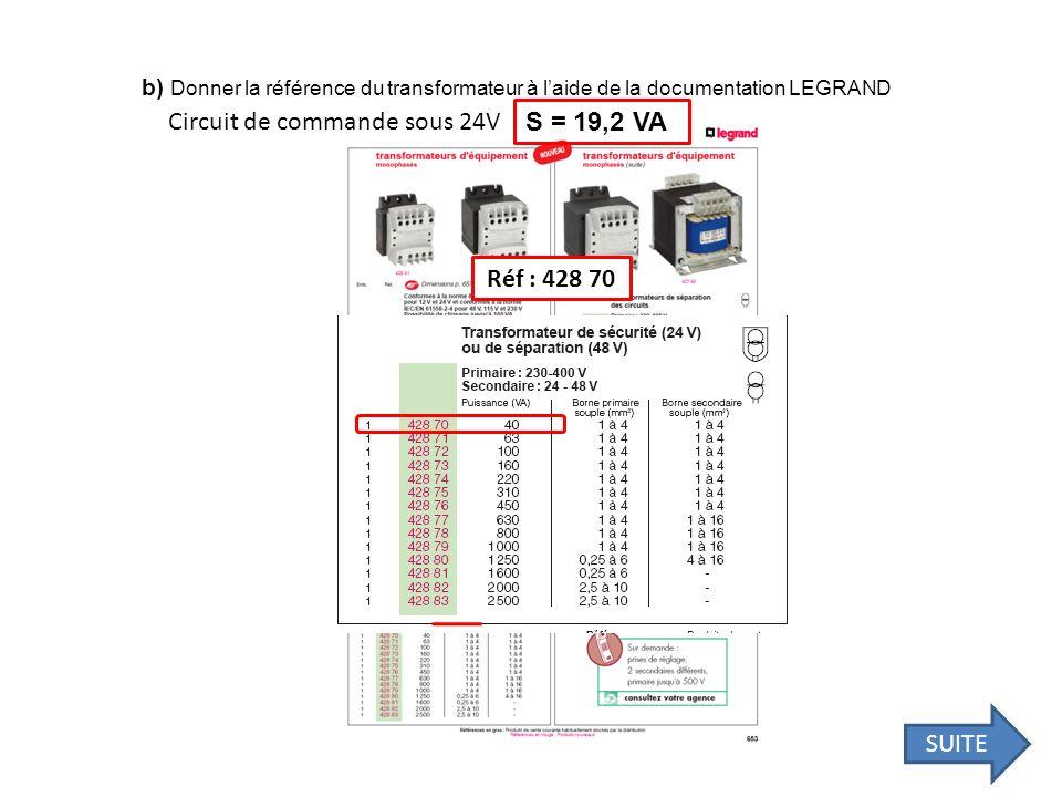 Circuit de commande sous 24V S = 19,2 VA