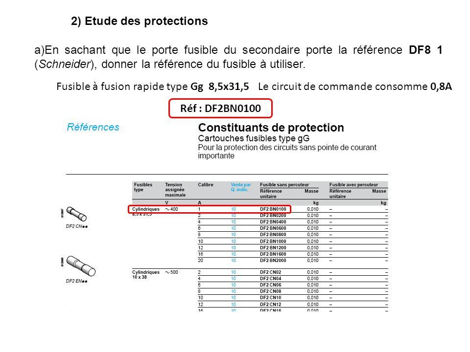 2) Etude des protections