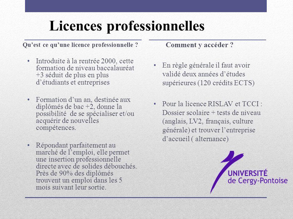 Licences professionnelles